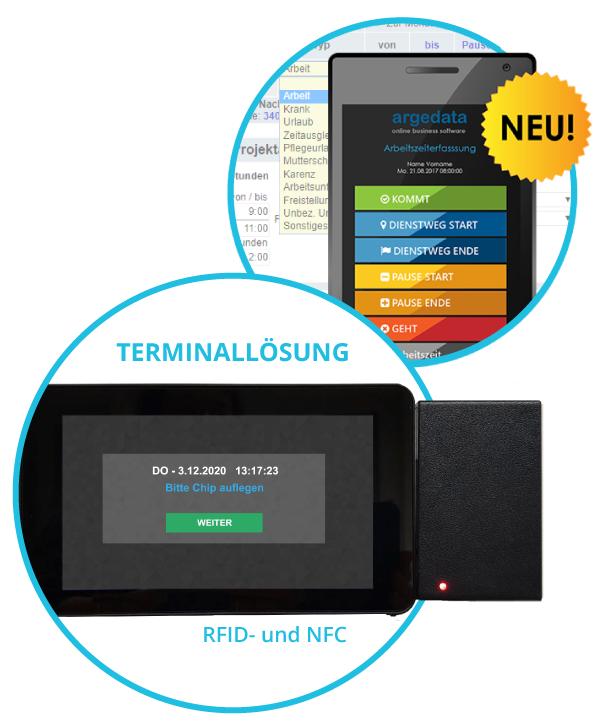Mobile und Terminal-Arbeitszeiterfassung